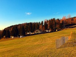 Village scenery with fences by patrickjobst