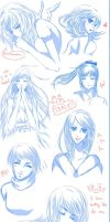 Sketch Dump GIRLS ONLY by Pchoberry