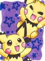 KAKAO CARD Pichu Brothers by LuckyAngelausMexx