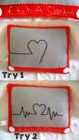 Etch A Sketch Pillow Plush by P-isfor-Plushes
