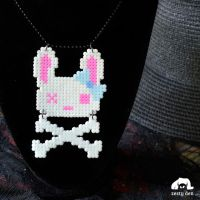 Dead Bunny Pastel Goth Cute Necklace by zestyden