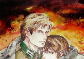 Hetalia_like Germany and Italy by Milwa-cz