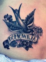 swallow tattoo by mojoncio