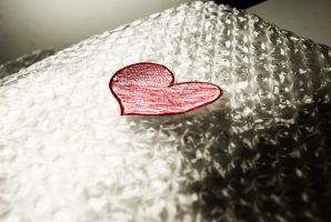 bubblewrap my fragile heart by Ninaaamazing
