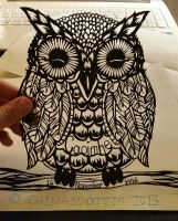 Owl Papercut by chinasdottir