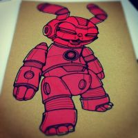 Cyborg Pink Bunny by GalactikCaptain