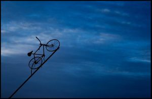 Flying Bicycle by pandaonmars