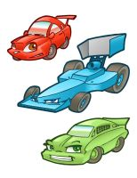 Cartoon Cars 1 by andrewchandler80