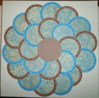 Blue And Grey Circle Flower by BlackUmbral