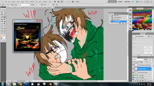 Virus!CryVSCry coloring [WIP2] by EvilVixen05