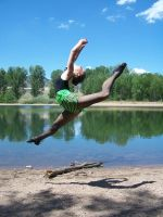 Jumping For the Lake by MelissMySiss