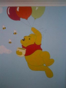 Winnie The Pooh Mural 03 by Dyly
