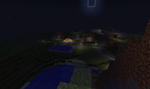 Minecraft - town view Night by redeyeswolfman