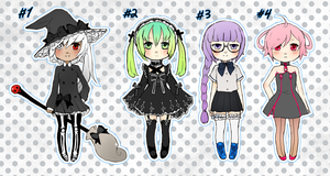 ADOPTABLES SET 4 (CLOSED) by mikimanni
