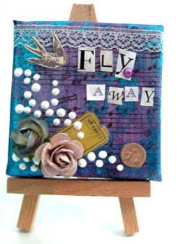 Fly Away -Mixed Media Painting by crucifiedcondios