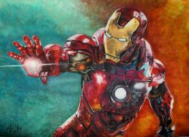 iron man painting by Just---Jenny