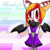 Thanks for 5,000 Pageviews by Christin-Cat-Bat