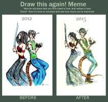 Draw this again! MEME by elicenia