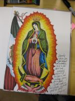 Virgin Mary in a yearbook by Darkus04