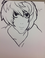 .:L Lawliet Drawing:. by Undead-Autumn