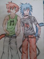 Oakley and Nathan by Harribel55