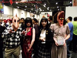 London MCM: Ada and the Beetlejuice group by MasterCyclonis1