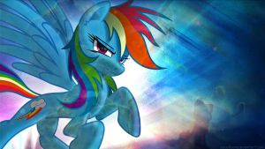 Rainbow Dash for Overmare Contest by FlipsideEquis