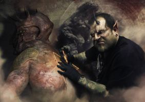 tattooer in hell by BBarends
