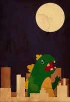 The Little Godzilla by VictorPaiam