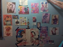 My inspire wall! X3 by Stormdeathstar9