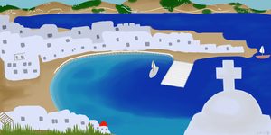 Project Part 2 (Greece Bay/Sea) by Amethyst26
