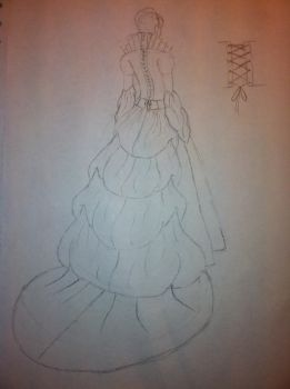 Medieval Queen/Princess Dress (Back) by cclark12