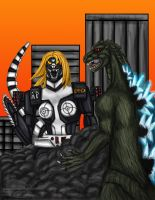 Godzilla vs Mecha-shreisand by Ravenfire5