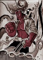 Hellboy by scarecrowhassan