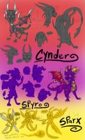 Cynder - Spyro and Sparx by shaloneSK