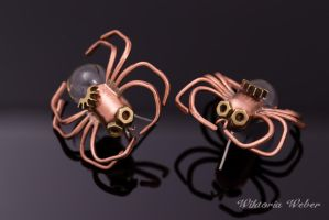 Edison's spiders by SteamPig