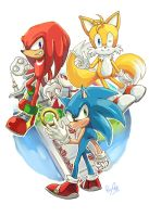 Team Sonic by ShadeShark
