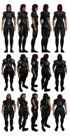 Mass Effect 3, Female Shepard - Alliance Fatigues. by Troodon80
