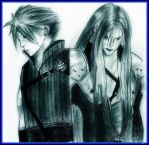 Cloud and Sephiroth by UnexpectedFantasy