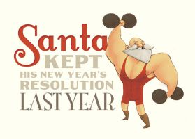 Weightlifting Santa by DerekHunter