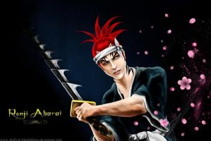 Renji Abarai - bleach by Blackthorn-Studios