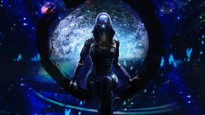 Tali'Zorah Wallpaper 1600x900 by Hiddenus