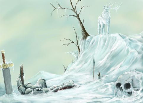 Cerf de glace by Asthenot