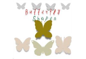Butterfly Photoshop Custom Shapes by brushesfreedow