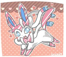 sylveon doodle by Erickiwi