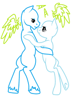 Pony Lovers Dancing Base (Free 2 Use) MS Paint by Sarahostervig