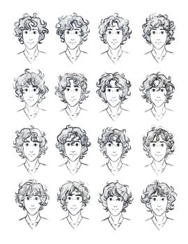 The Silver Eye - Enel Curly Hair Study by LauraHollingsworth