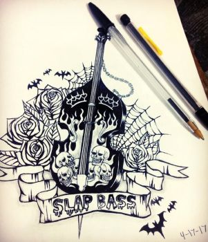 Bass tattoo by mariamary66