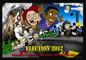 Election 2012 Poster by Mixahman