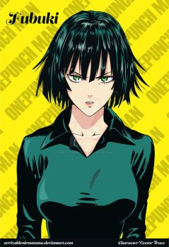 Fubuki (Blizzard of Hell) Vector Trace - One Punch by ArrizalDeniRusmana